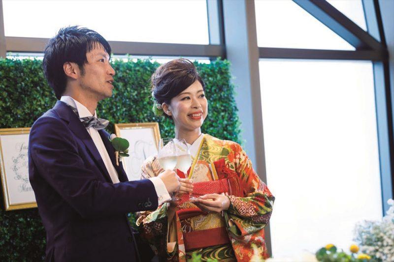 花嫁の和装snap】 成人式や卒業式の振袖で結婚式