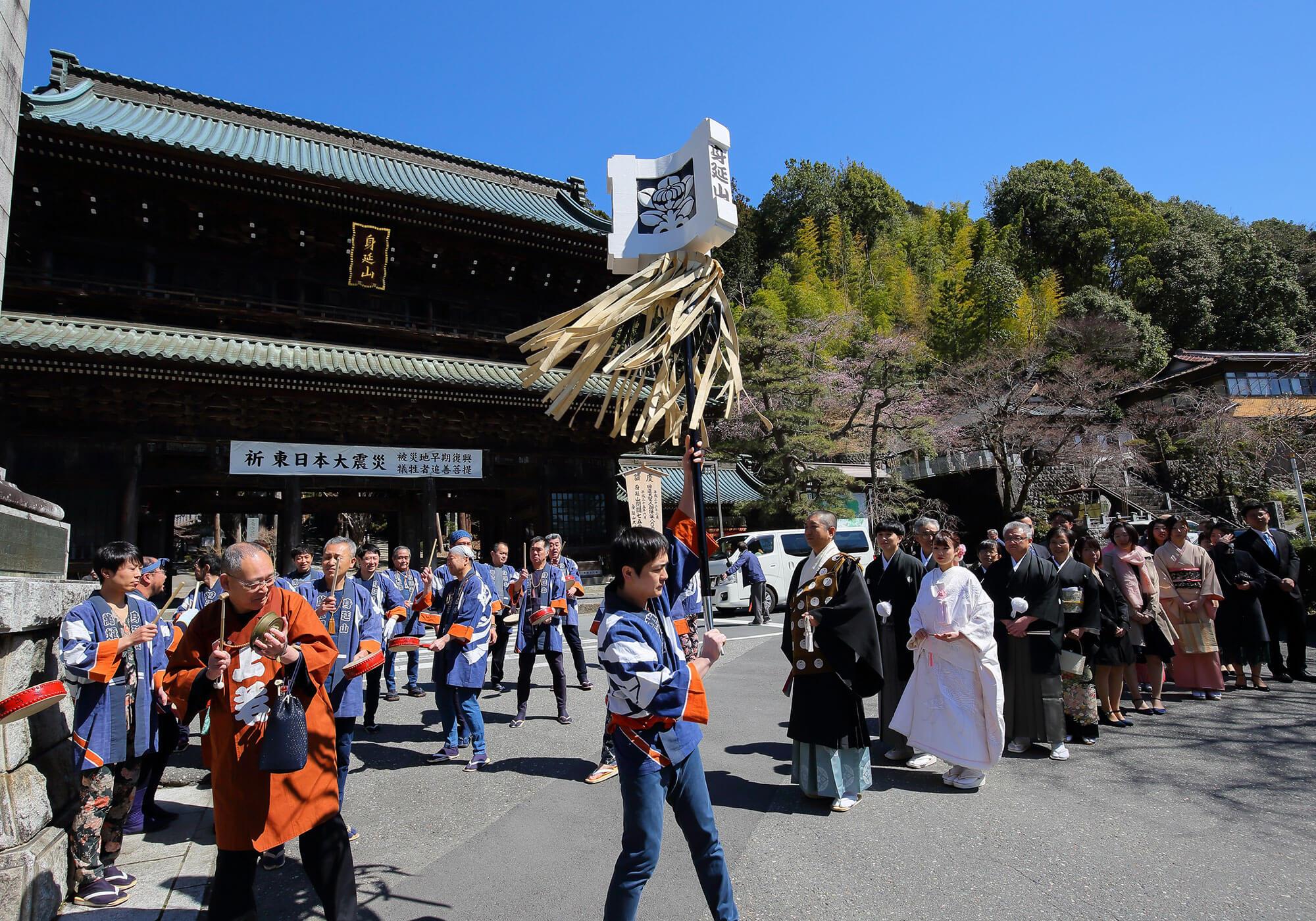 日蓮宗総本山 身延山久遠寺で神前式・和の結婚式|日本の結婚式