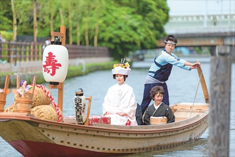 心に残る和の原風景 潮来伝統の嫁入り舟