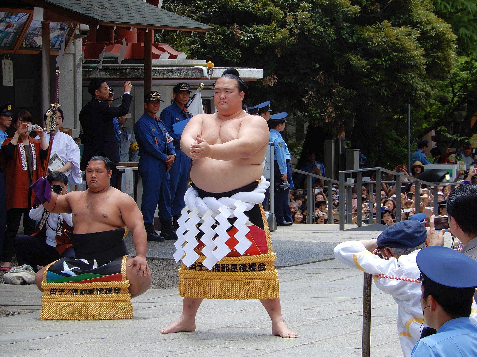 相撲の歴史が残る場所で、横綱稀勢の里関刻名奉告祭