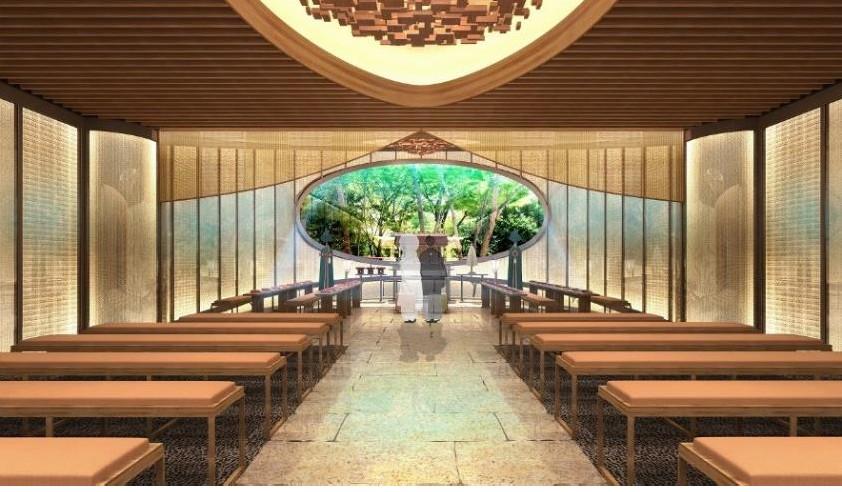 ホテル椿山荘東京の庭園に<br>独立型神殿「萬寿殿」が2017年秋誕生!