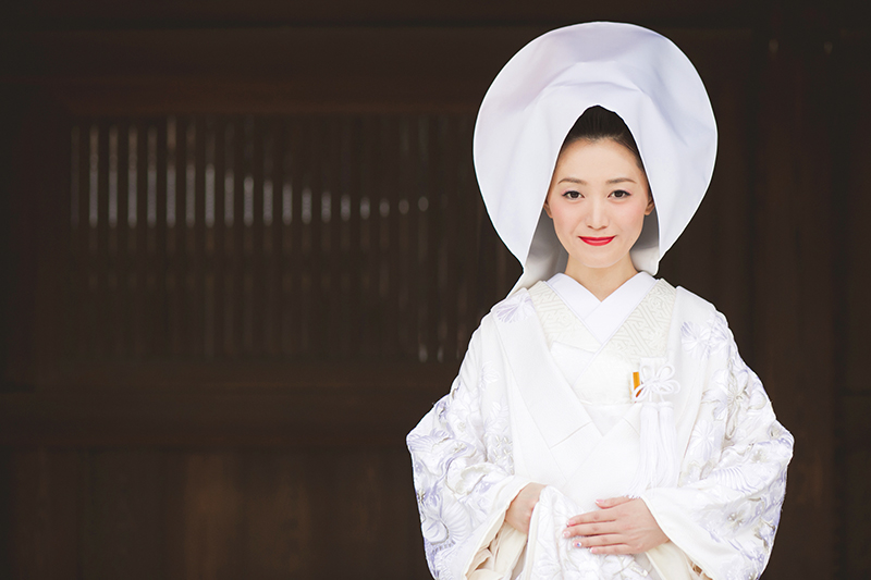 【先輩花嫁の和装snap】<br>やっぱり憧れ、伝統的な白無垢スタイル