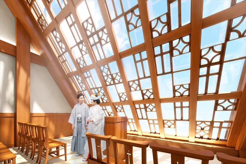神楽坂で叶える家族の少人数婚<br>和装も似合うチャペルKaguraがオープン