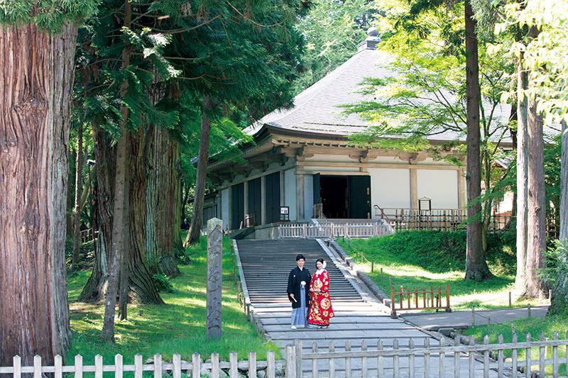 東北唯一の世界文化遺産<br>中尊寺・毛越寺で挙げる「都姫婚」