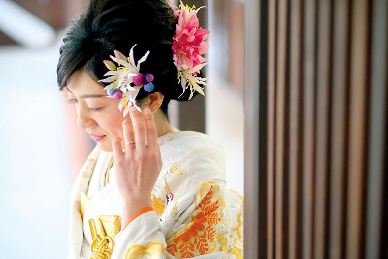 【花嫁の和装snap】<br>お花を使った花嫁ヘア コレクション