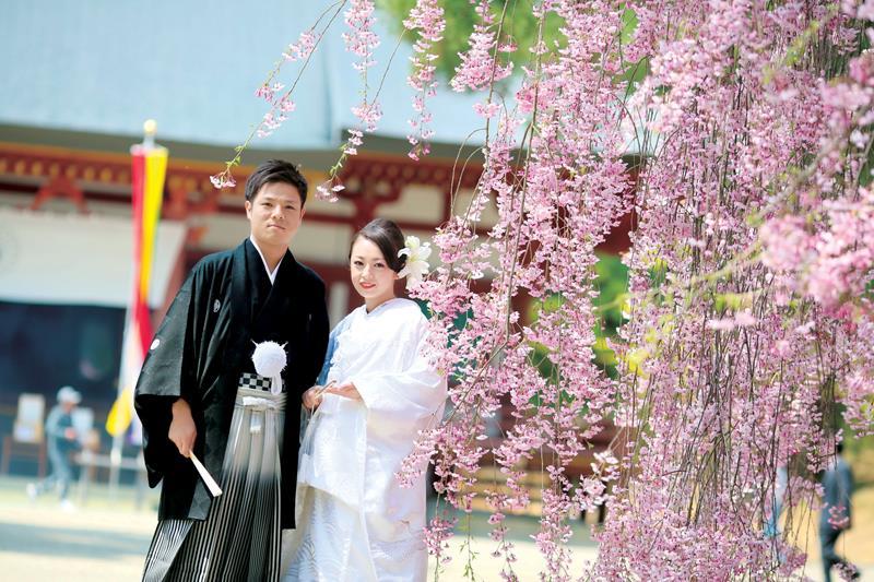 【花嫁の和装snap】<br>春婚ウェディングフォト