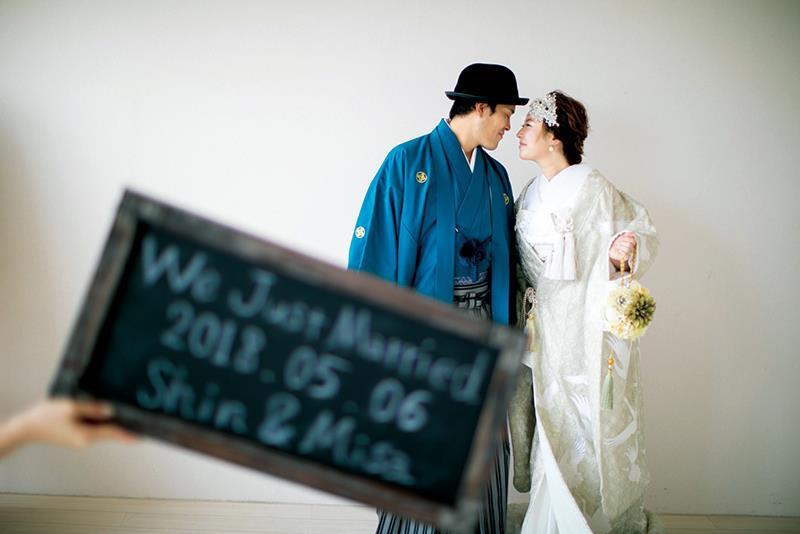 【花嫁の和装snap】<br>おしゃれな白無垢コーディネート