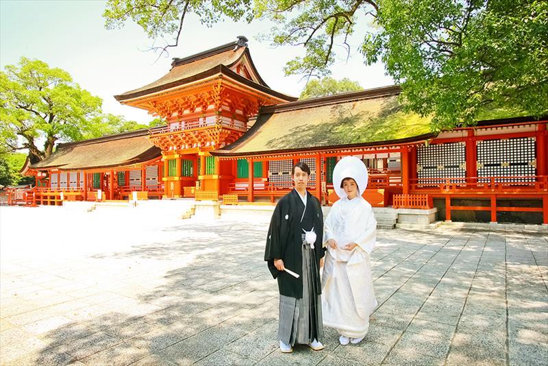 格式高い宇佐神宮での挙式の前後は別府・由布院で<br>おんせん県の魅力を全国に発信『宇佐神宮結婚式』