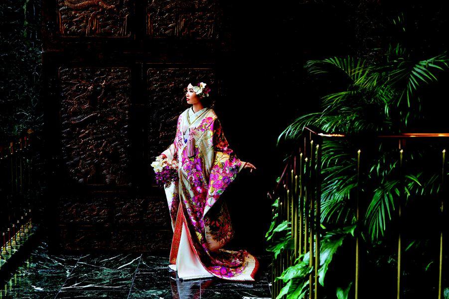 【花嫁和装の人気店】着る宝石 幸せのうちかけ<br>「クチュールメゾン&nbsp;ヒサコタカヤマ」