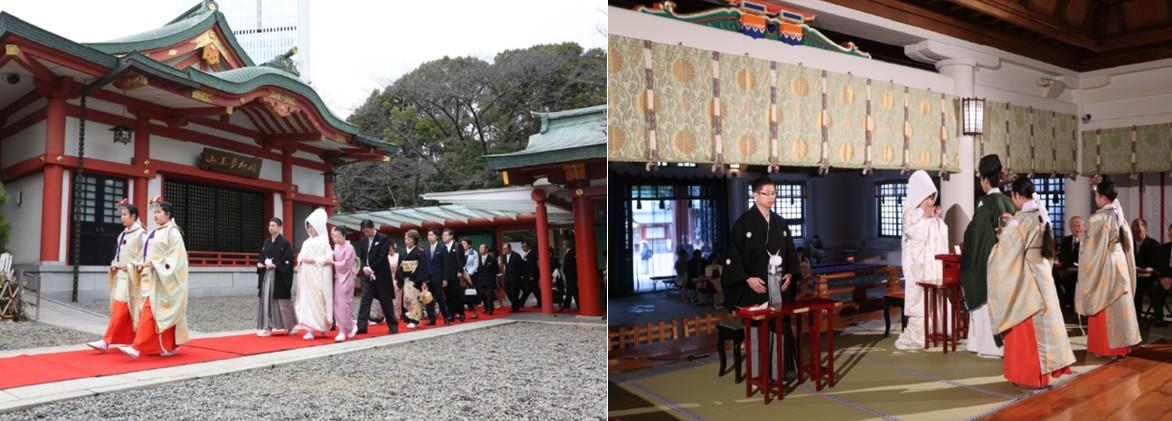 伝統あるザ・キャピトルホテル&#160;&#160;東急&#160;と<br>日枝神社で格式高い絢爛豪華な結婚式